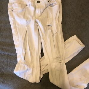 Pacsun white distressed skinny jeans